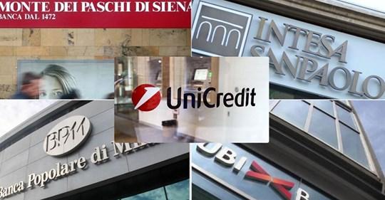Studio sindacato bancario First Cisl sulle prime cinque banche italiane